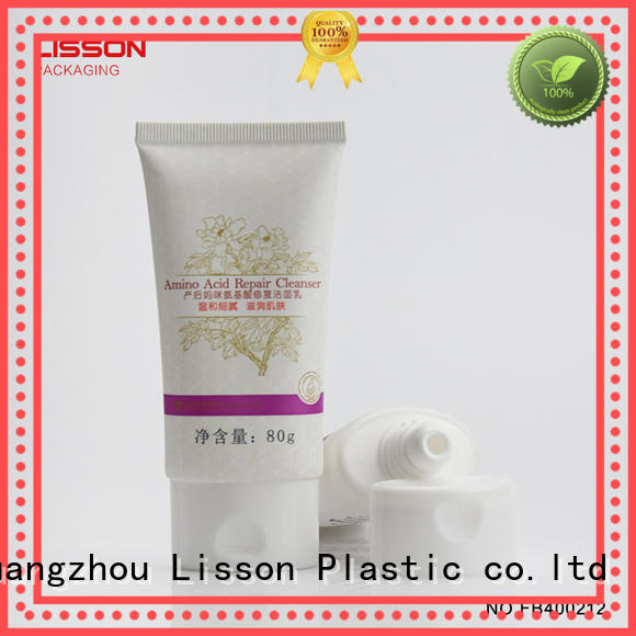 facial bottles with flip top caps tube cleanser Lisson Brand
