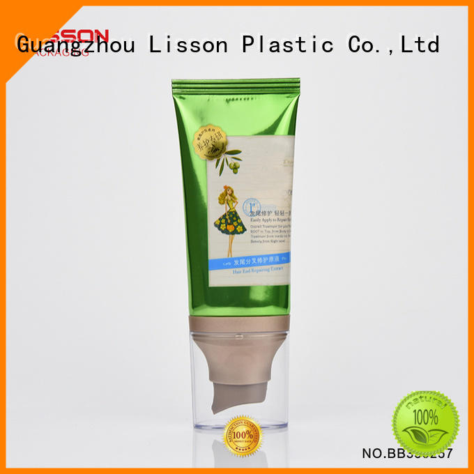 Lisson empty airless tubes cosmetic barrier for cleanser