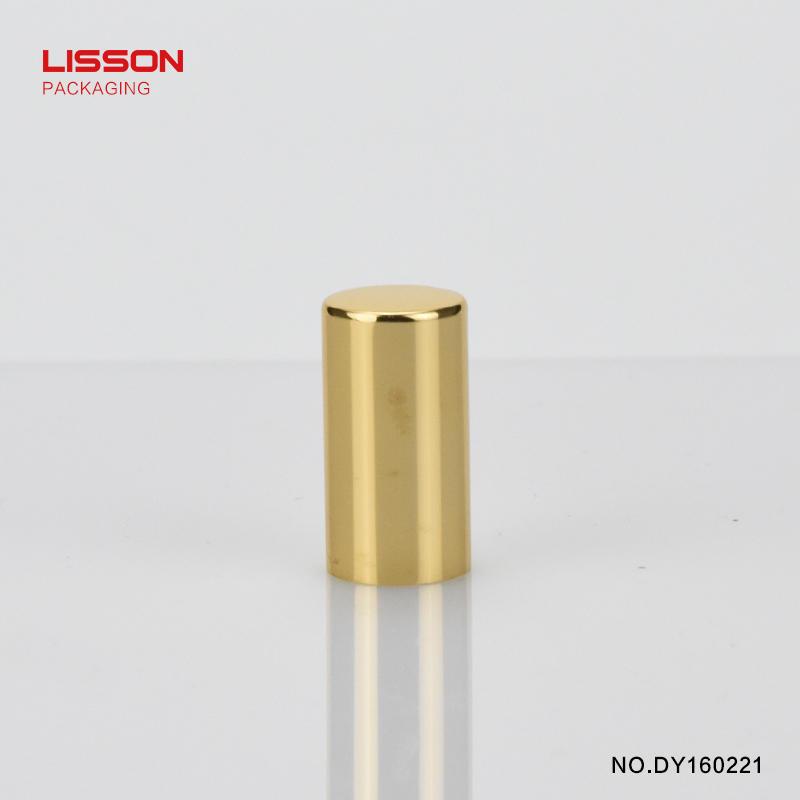 5g round tube aluminum cover screw cap with inner plug