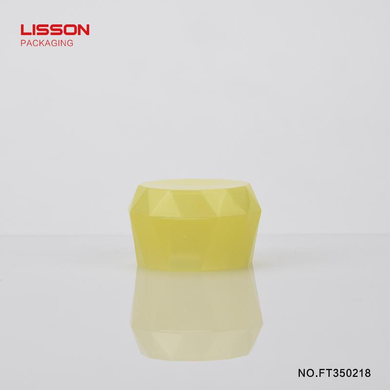 65ml round plastic hand cream tube with diamond shape flip top cap