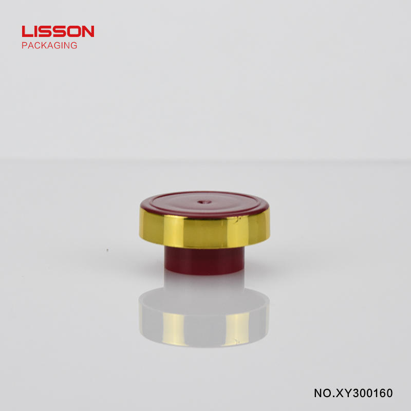 60g round hand cream rose red tube with golden screw cap
