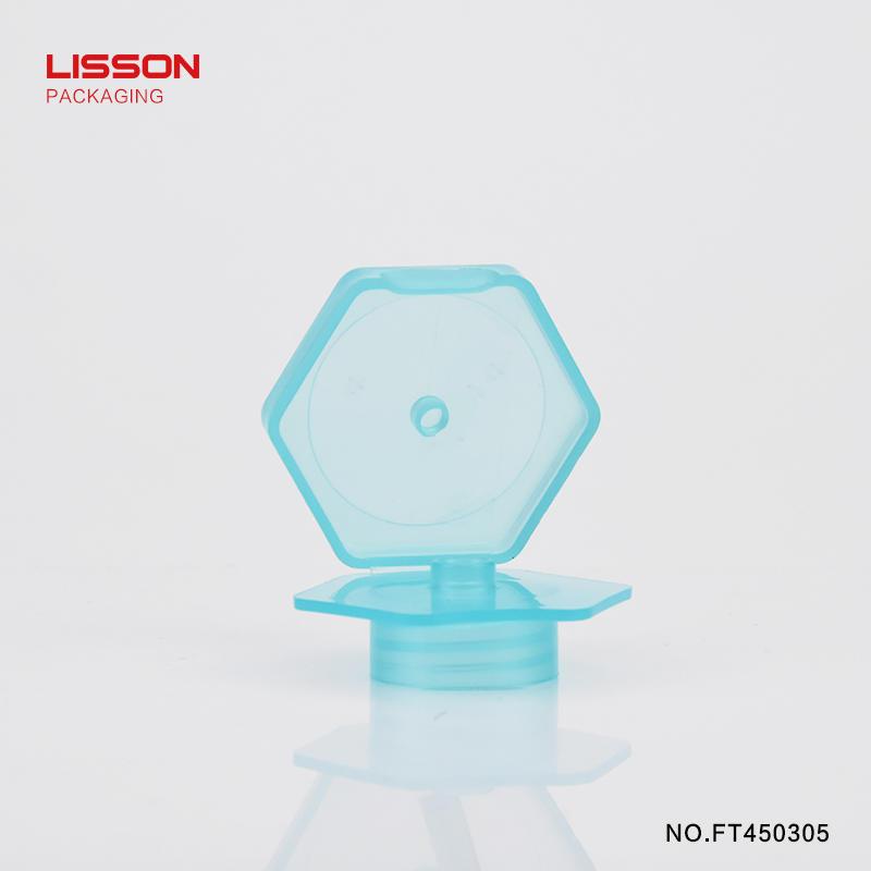 empty flip top cap suppliers hexagonal for cosmetic Lisson
