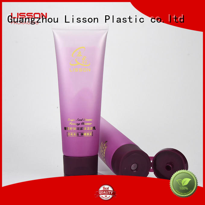 cosmetic tube packaging silver plating for facial cleanser Lisson