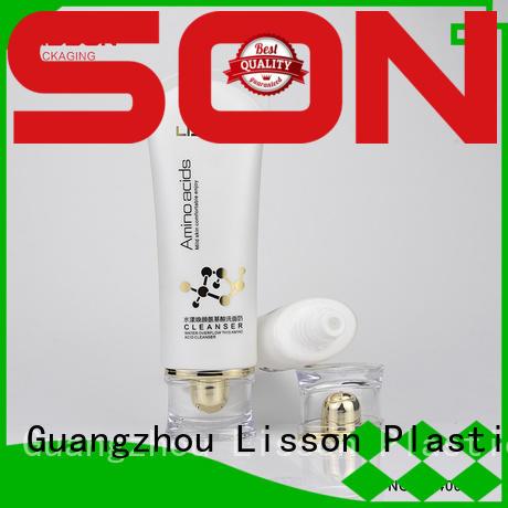 Lisson diamond shape skin care tube round for packaging