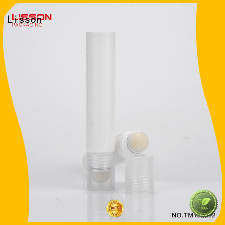 Hot oval cosmetic tube manufacturers silver Lisson Brand