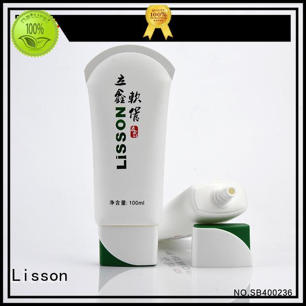 press color lisson switch plastic lotion tubes Lisson Brand